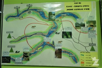 A map of the park in the office