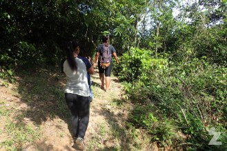 Shima and her sister guiding us along the jungle tracks. They were brilliant wildlife spotters!
