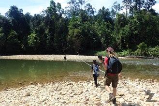 Traversing the river
