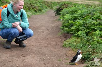 """Wow! A puffin!"" I'd never even seen one before, let alone been so close to one."