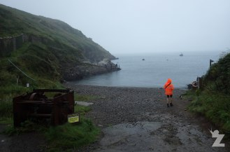 Martin's Haven Cove - Walking to catch the boat to Skomer