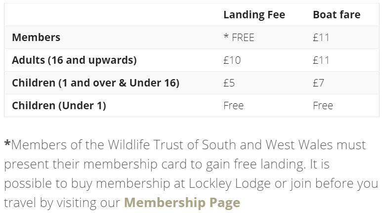 skomer island fees