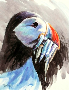 Alan Ward - Puffin with Sandeels