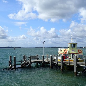 The Sandbanks ferry port terminal - our ferry pulling in