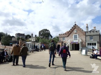 Arrival at Brownsea Island - National Trust building ahead