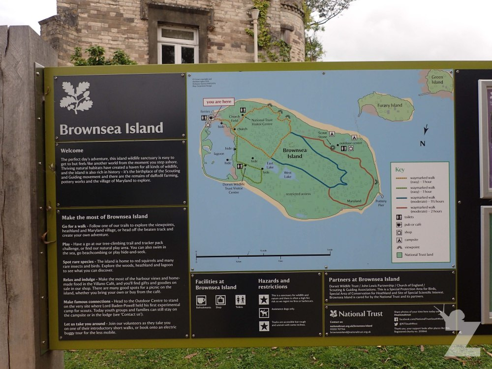 The National Trust: Brownsea Island Map