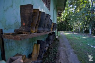 Gumboots all lined up and ready to go